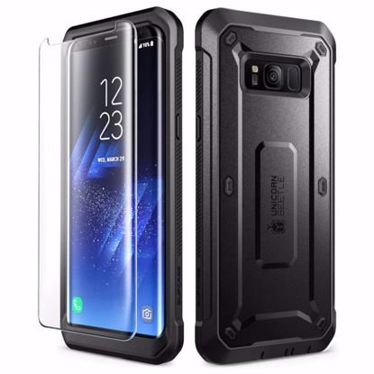 Picture of i-Blason i-Blason Unicorn Beetle Pro Case with Screen Protector for Samsung Galaxy S8 in Black/Blue
