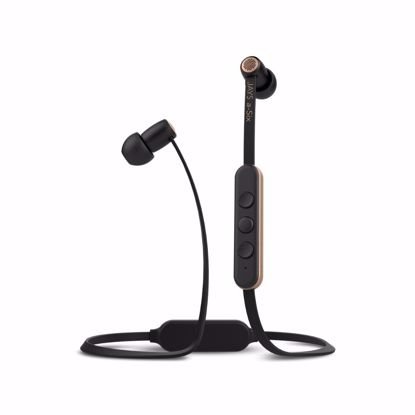 Picture of JAYS JAYS a-Six Wireless In-Ear Earphones with Mic in Black/Gold