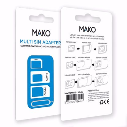 Picture of Mako MAKO Multi SIM Adapter in White