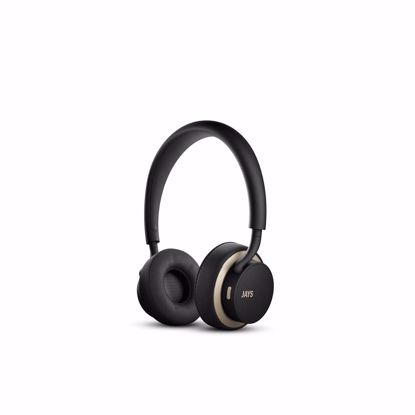 Picture of JAYS u-JAYS Wireless On-Ear Headphones in Black/Gold