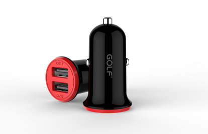 Picture of Golf Golf Dual Car Charger USB-A 3.4A in Black (No Cable)
